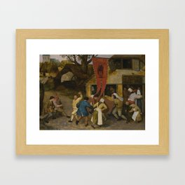 Circle of Pieter Bruegel the Elder A VILLAGE KERMESSE Framed Art Print