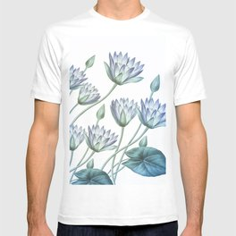 Water Lily Blue T-shirt