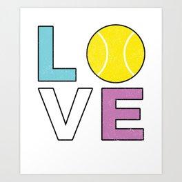 Tennis Player Design - LOVE Art Print