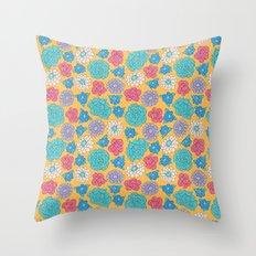 RocoFloral (mango) Throw Pillow