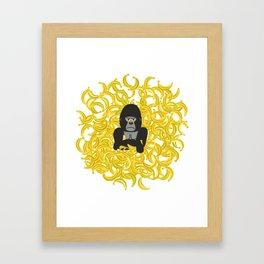 Gorillas and bananas by unPATO Framed Art Print