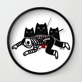 Cat Feast Wall Clock