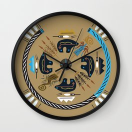 American Native Pattern No. 114 Wall Clock