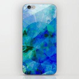 Precipice in Blue XVII iPhone Skin