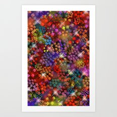 Stained Glass look Series 3 Art Print
