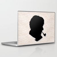 sherlock holmes Laptop & iPad Skins featuring Sherlock Holmes by thescudders