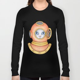 Cat diver Long Sleeve T-shirt