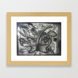 chaos in nature Framed Art Print