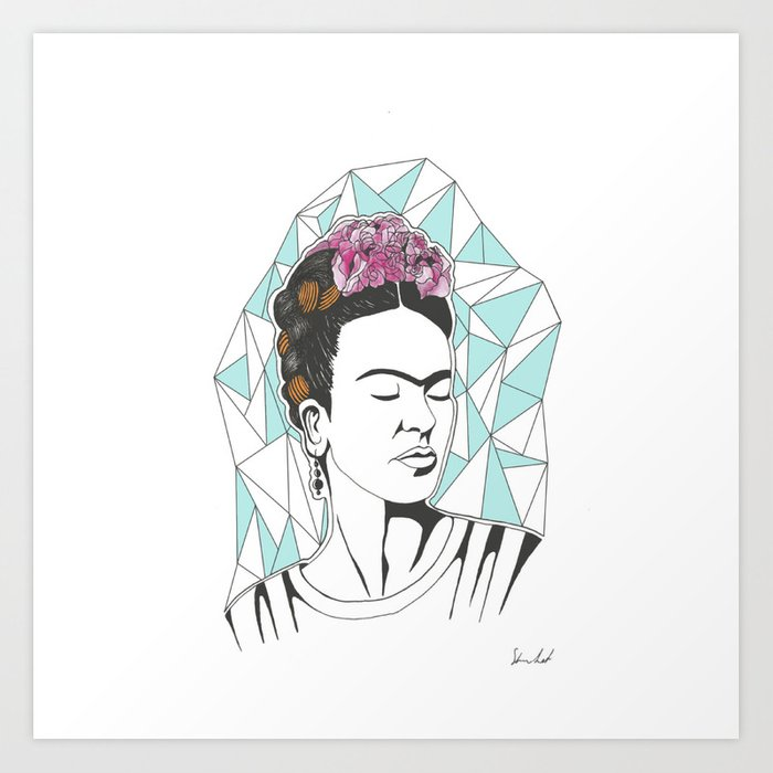 Frida Kahlo Furniture American Pickers: Frida Kahlo Art Print By Beskfitta