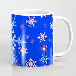 DECORATIVE BLUE  & WHITE SNOWFLAKES PATTERNED ART Coffee Mug
