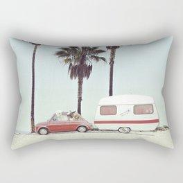 NEVER STOP EXPLORING - CAMPING PALM BEACH Rectangular Pillow