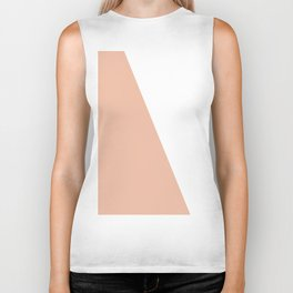 Geometric Ballet Slipper Pink + White Biker Tank