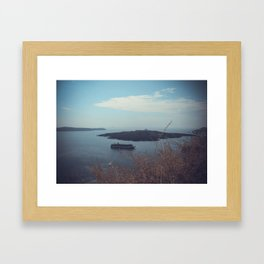 Santorini, Greece 15 Framed Art Print
