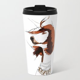 Messy Hair Don't Care Dog Travel Mug
