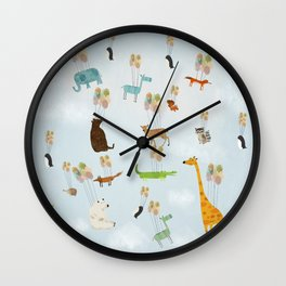 the sky zoo Wall Clock