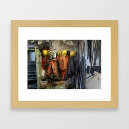 Working clothes, steam locomotives Framed Art Print