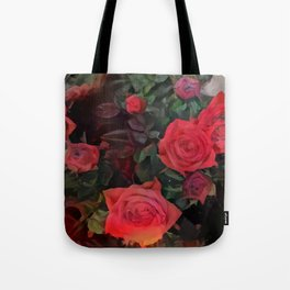 Forever red roses Tote Bag
