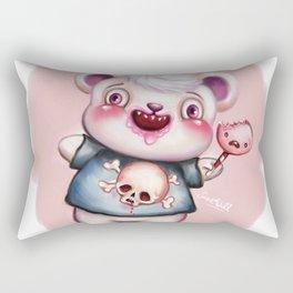 Creepy Candy Bear Rectangular Pillow