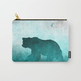 Teal Ghost Bear Carry-All Pouch