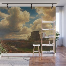 Landscape in Campagna Italy with Gathering Storm by Oswald Achenbach Wall Mural