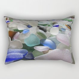Sea Glass Assortment 6 Rectangular Pillow
