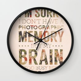 Suits - Too Busy Being Awesome Wall Clock