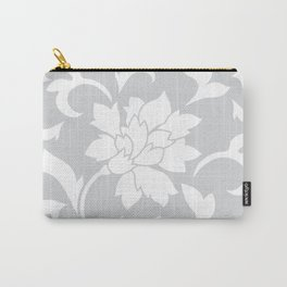 Oriental Flower - Silver Carry-All Pouch