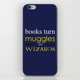 Books Turn Muggle into Wizards iPhone Skin