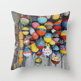 Key West Seaside Colours Throw Pillow