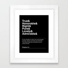 PHILIPPIANS 4:8 Framed Art Print