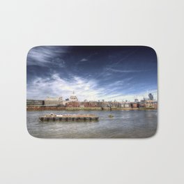 The River Thames and Barge and St Paul's Cathedral Bath Mat