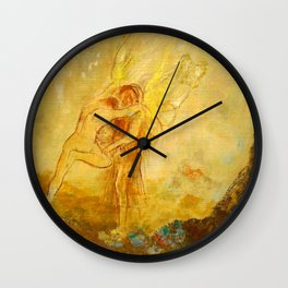 "Odilon Redon ""Jacob Wrestling with the Angel"" Wall Clock"