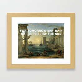 Seaport with the Embarkation of the Sun Framed Art Print
