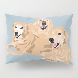 3 Golden Retrievers Pillow Sham