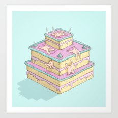 Cake lovers Art Print