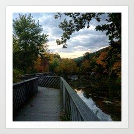 Madam Brett Park in Autumn - Beacon NY Art Print