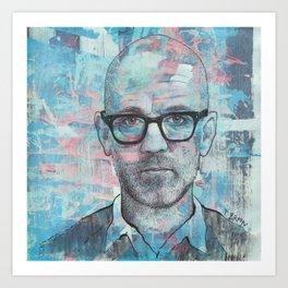 Michael Stipe (REM) - Man On The Moon Art Print