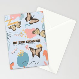 Be the Change Butterflies Stationery Cards
