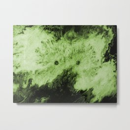 Peek-A-Boo Green Metal Print