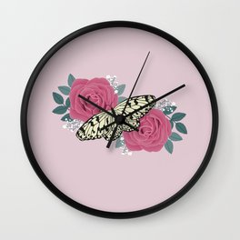 Pastel Rose Wall Clock