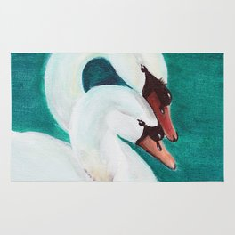 Swans Love Rug
