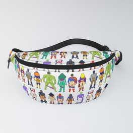 Superhero Butts - Power Couple on Violet Fanny Pack
