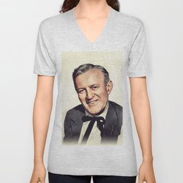 Lee J. Cobb, Vintage Actor Unisex V-Neck
