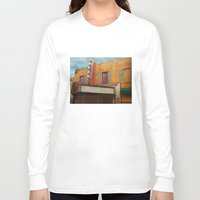 theater Long Sleeve T-shirts featuring The Crumbling Martin Theater by Little Bunny Sunshine