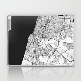 Tel Aviv Map Gray Laptop & iPad Skin