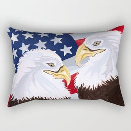 American Pride Through the Eyes of Eagles Rectangular Pillow