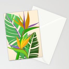 Bird of Paradise Bouquet Stationery Cards