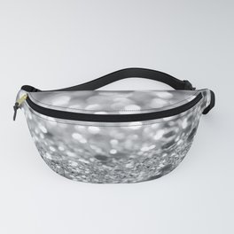 Silver Gray Lady Glitter #1 #shiny #decor #art #society6 Fanny Pack
