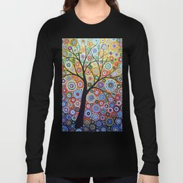 Abstract Art Landscape Original Painting ... Sun Arising Long Sleeve T-shirt