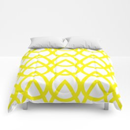 white and yellow drops pattern Comforters